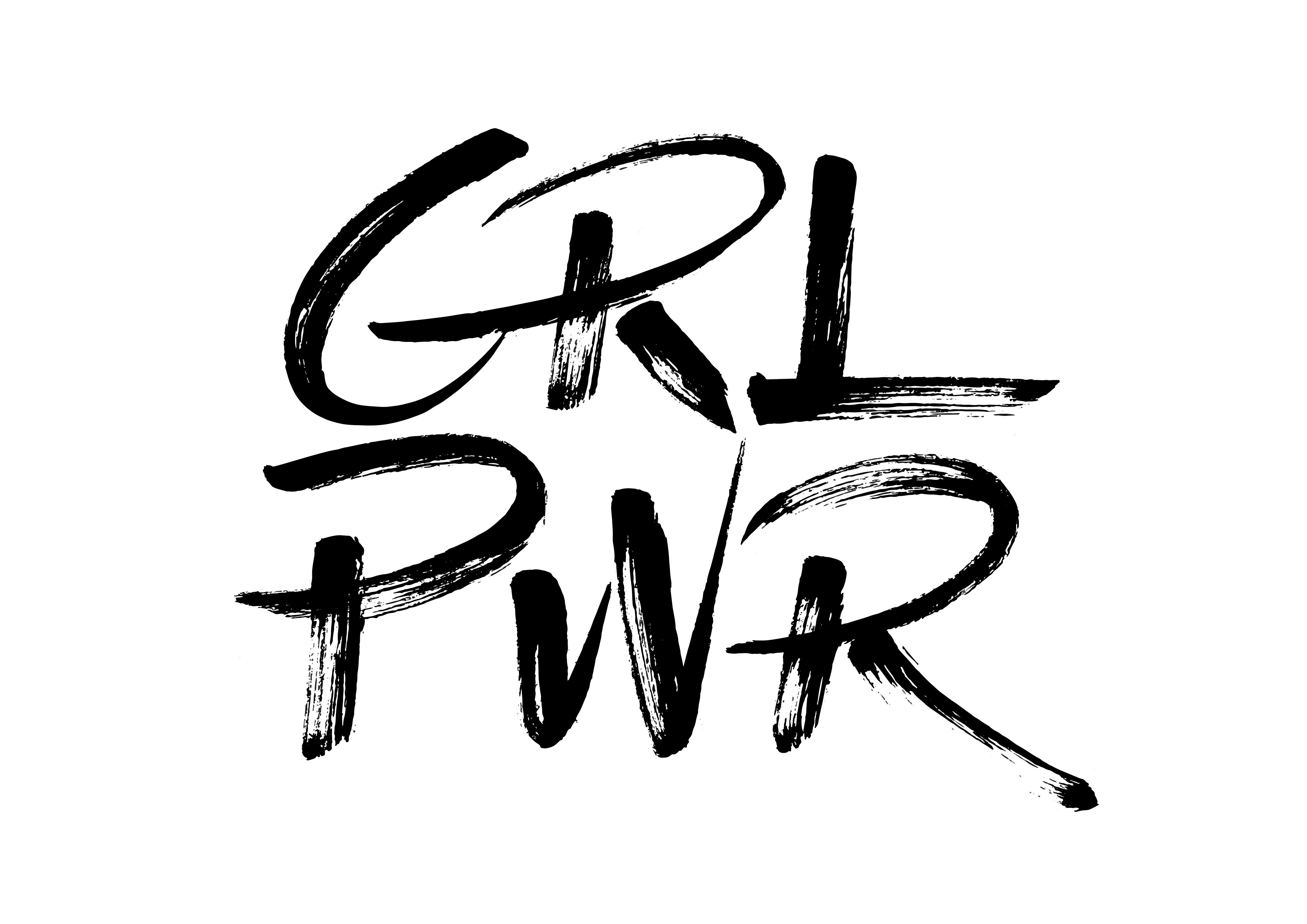 girl power brush lettering bokstavsillustration brushpen