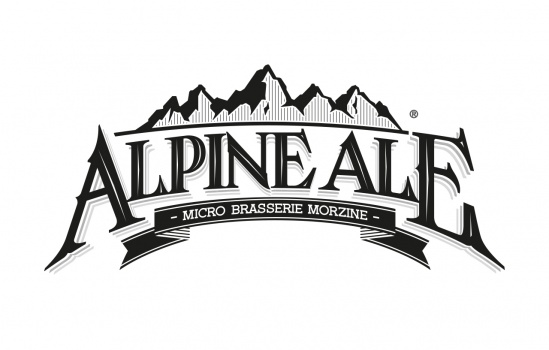 brewery logotype alpine ale beer
