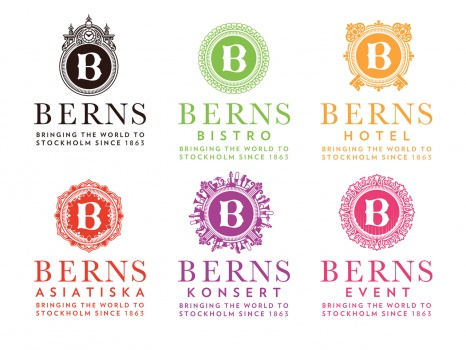 Logos for Berns Salonger