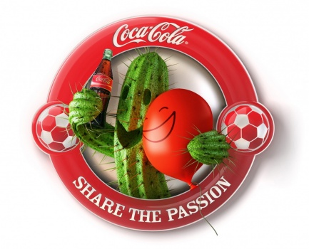 Coca Cola campaign for football championship, the cactus and the balloon