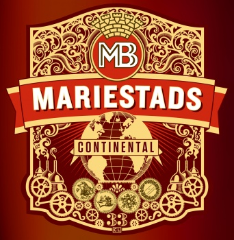 Illustration for a beer label Mariestads Continental