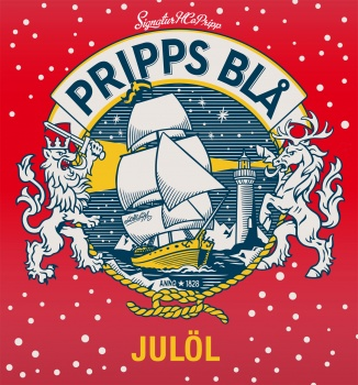 Pripps Blå Christmas beer label