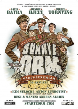 Poster of the theatrical poster Black Adder, Svarte orm, david batra ,henrik hjelt, mikael,Kim Sulocki