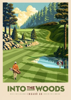 into the woods, golf, skog, nature